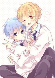 Little Kise and Kuroko