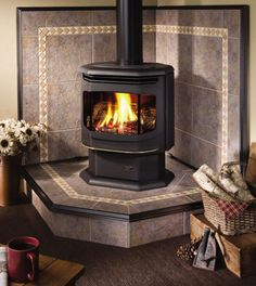 Wood Burning Stove Corner Fireplace Inserts New Ideas Wood Stove Surround, Wood Stove Hearth, Fireplace Hearth, Stove Fireplace, Fireplace Inserts, Wood Burner, Fireplace Design, Corner Fireplaces, Hearth Pad