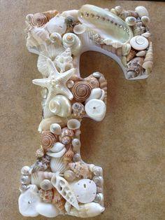 Alphabet Made Of Shells on Pinterest | Sea Shells ...