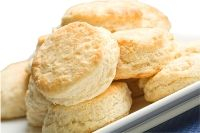 """Sourdough Refrigerator Biscuits. """"This recipe makes enough for about 40 biscuits, and the dough lasts up to a week in the refrigerator, so you can make fresh biscuits all week with minimal effort"""""""