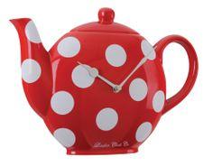 teapot Wall Clock | LONDON CLOCK COMPANY 3D SPOTTY TEAPOT DESIGN WALL CLOCK - 25CM