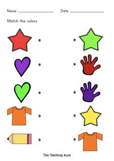 Free Matching Colors Worksheets - The Teaching Aunt