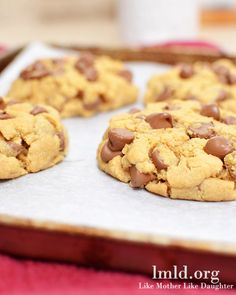 Peanut butter chocolate chip recipe for two