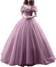3960626137a4f Sunvary Robe Longue Robe de Mariage Robe de Soiree Robe de Ceremonie Epaule  Degagee Romantique Manche Courte en Papillon Perle Princesse Cordon de  Serrage  ...