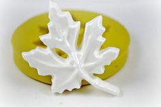 0258 Maple Leaf Butter Pat Silicone Rubber Flexible by MasterMolds, $7.50