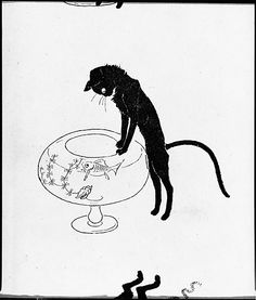 Designed by Théophile-Alexandre Steinlen (French), 1859–1923). Des chats: images sans paroles (Cats: Pictures without Words). Published by Ernest Flammarion, ca. 1898. The Metropolitan Museum of Art, New York. Gift of Mrs. Edward C. Moën, 1961 (61.687.12) #cats