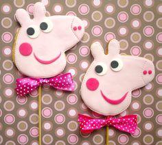 Peppa pig cookies :-) — Cookies! **UM THOSE ARE PENISES WITH EARS!