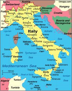 Map of Italy with major cities + interesting facts.   The following outline is provided as an overview of and topical guide to Italy:   Italy – unitary parliamentary republic in South-Central Europe, located primarily upon the Italian Peninsula. Italy is the birthplace of Western civilization. It is where Ancient Rome originated as a small …