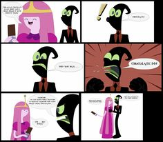 Nergal And Princess Bubblegum Chocolate is Nuts Comic Art (Bubblegal) Cartoon Network HD 2017 Art By Nathaniel