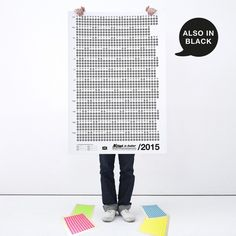 Bob and Uncle Design Wandkalender – Now Is Better 2015, WEISS, 680 x 1000 mm | selekkt.com Kalender Design, Now Is Good, Social Media Calendar, Printable Planner, Modern Decor, Upcycle, Home Improvement, Furniture Design, Shabby