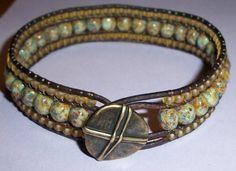 Triple Row (AND Multi Wrap) Leather Bracelet Jewelry Tutorial PDF. $10.00, via Etsy.