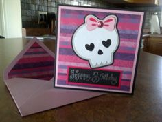 Cricut cartridge ROCK PRINCESS for my niece's birthday...she thought it was monster high!!