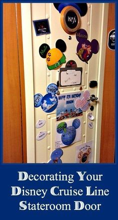 Make your Disney Cruise Line stateroom door look awesome with these fun, decoration ideas including magnets, clip art, Etsy links, and more! Disney Cruise Line, Disney Fantasy Cruise, Disney Tips, Disney Fun, Disney Style, Disney Magic, Disney Surprise, Surprise Ideas, Disney Ideas