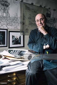Comic strip artist Philippe Druillet is photographed for Paris Match on September 10, 2015 in London, England.