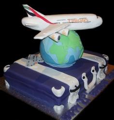 Bon Voyage Birthday Cake - by Nada's Cakes Canberra