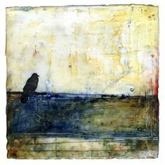 Bridgette Guerzon Mills Maybe Home Was Always Here encaustic 6×6 inches