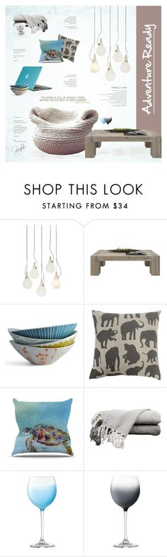"""Adventure Ready"" by nyrvelli ❤ liked on Polyvore featuring interior, interiors, interior design, home, home decor, interior decorating, NEXT, Lotta Jansdotter, Kess InHouse and LSA International"