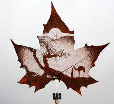 Incredible Leaf Carving Art ~ etté studios