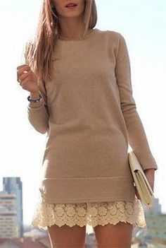 Laced Sweater Dress