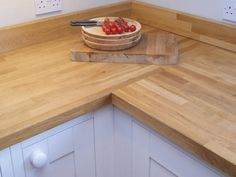 Natural Oak worktop - http://www.sncollection.co.uk/real-kitchens/real-kitchen-projects/milton-painted-charles-gray-ltd.html