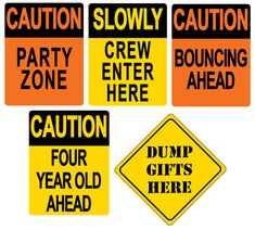 Construction FOURman   Construction themed birthday party signs. Caution: Party Zone Happy Birthday Boy, 4th Birthday, Birthday Party Themes, Party Props, Party Signs, Party Hats, Construction Theme Party, Construction For Kids, 4 Year Old Boy