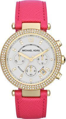 Michael Kors Watches Parker  Gold Case/ Pink Strap - via eBags.com! #PickPink