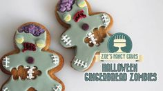 Halloween treats and ideas! #11: Zombie gingerbread cookies - CakesDecor