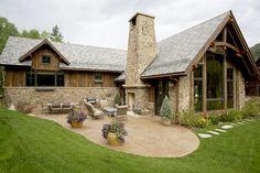 River Lodge Residential Aspen Architecture - exterior porch