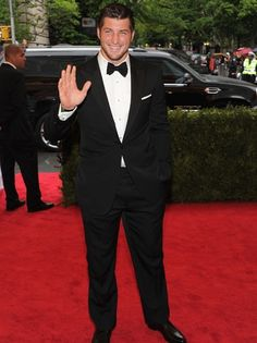 """""""Tim Tebow Trades His NFL Jersey for Ralph Lauren at the Met Gala"""" The Hollywood Reporter (May 8, 2012)"""