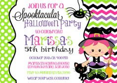 HALLOWEEN WITCH INVITATION