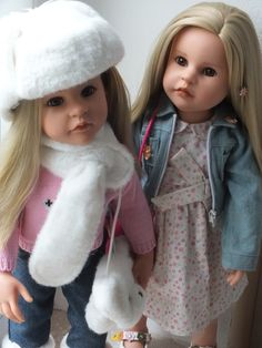 2 x Nore von Götz Steiff Puppen Dolls