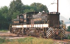 Circa 1985 Chattanooga, Tennessee  NORFOLK SOUTHERN CORP.  EMD MP15's # 2408 and # 2409. Photograph by Ed Sharpe