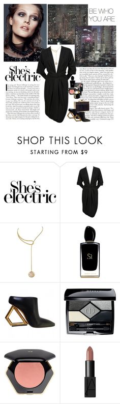 """""""She's electric (@goharkhanoyan)"""" by dezaval ❤ liked on Polyvore featuring Ultimate, Yves Saint Laurent, Louis Vuitton, Elie Saab, Giorgio Armani, Christian Dior, H&M, NARS Cosmetics and vintage"""