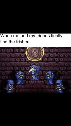 Video Games Funny, Funny Games, Stupid Funny Memes, Funny Stuff, Terraria Memes, Gaming Memes, Goblin, Funny Comics, Really Funny