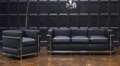 Le Corbusier LC2 Sofa & Chair