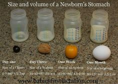 Size of baby's stomach.  Breastfeeding doesn't require supplementation.