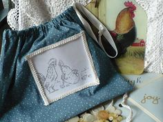 ChiCken Drawstring Bag Art Work by ReflectionsofKayla on Etsy