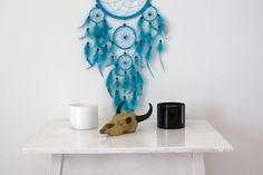dream catcher in blue...
