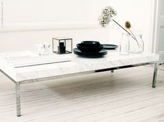 DIY Marble-top coffee table