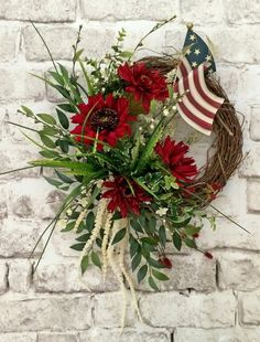 4th of July Wreath, Patriotic Wreath, Summer Wreath for Door, Patriotic Door Wreath,4th July Decorations,American Flag Wreath,Old Glory,Etsy