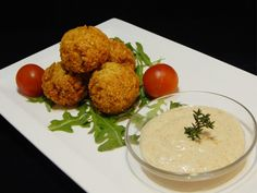 FALAFEL TAHINI SZÓSSZAL Falafel, Chef Blog, Tahini, Mashed Potatoes, Paleo, Gluten Free, Chicken, Meat, Breakfast