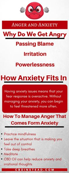 If you find that you have anger management issues, it may be anxiety. #Anger #Anxiety #CBDoil