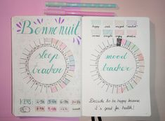 "vintage-studyblr: "" new sleep and mood tracker designs """