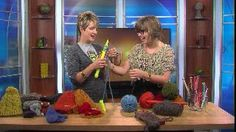 I was on the news today!  Knitting by A Girl Named Leney