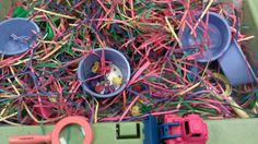 Colors and Cars Sensory Table