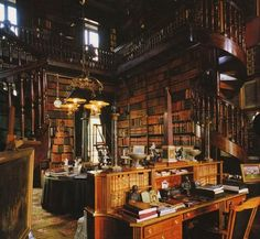 Now THIS is a private library!! Built in 1815, The private library of the Château de Groussay is located in Montfort-l'Amaury, France. The Château was owned by the duchesse de Charest, a daughter of Louise Elisabeth de Croÿ-Havré, marquise de Tourzel, the governess of the royal enfants de France of Louis XVI and Marie Antoinette.
