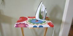 By-Your-Side DIY Ironing board.  great to keep set up next to you when sewing or doing small projects..or for someone in a small apartment or college dorm room.