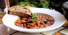 Zuppa rustica di borlotti e cozze