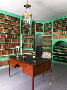 Library - Eidsvollsbygningen is a historic Manor House in Eidsvoll in Norway, where the Constitution of Norway was made and signed on 17 May 1814. Photo: Espen Grønli