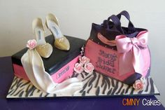 Juicy Couture and Shoe Box Bridal Shower Cake